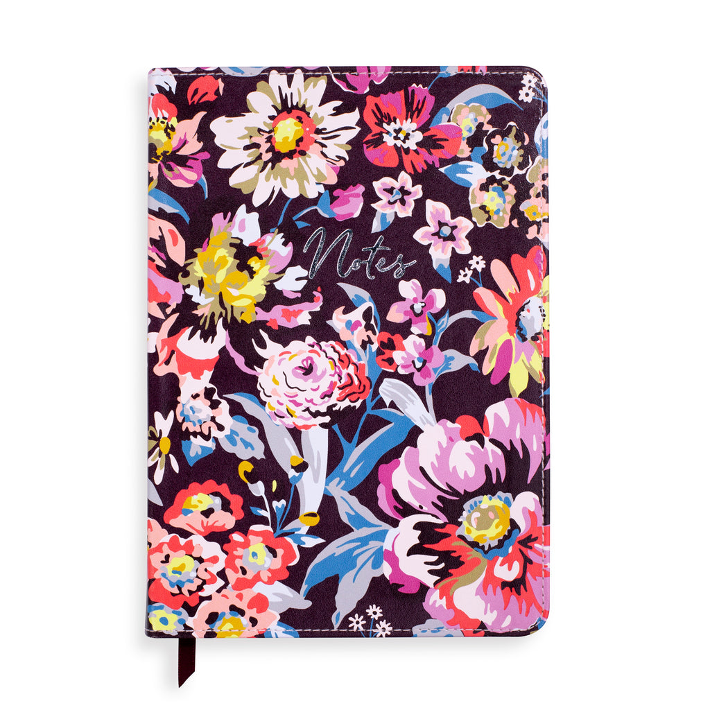 Vera Bradley Small Leatherette Journal, indiana rose