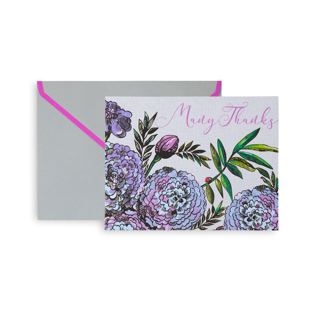 Vera Bradley Thank You Notes, Lavender Meadow