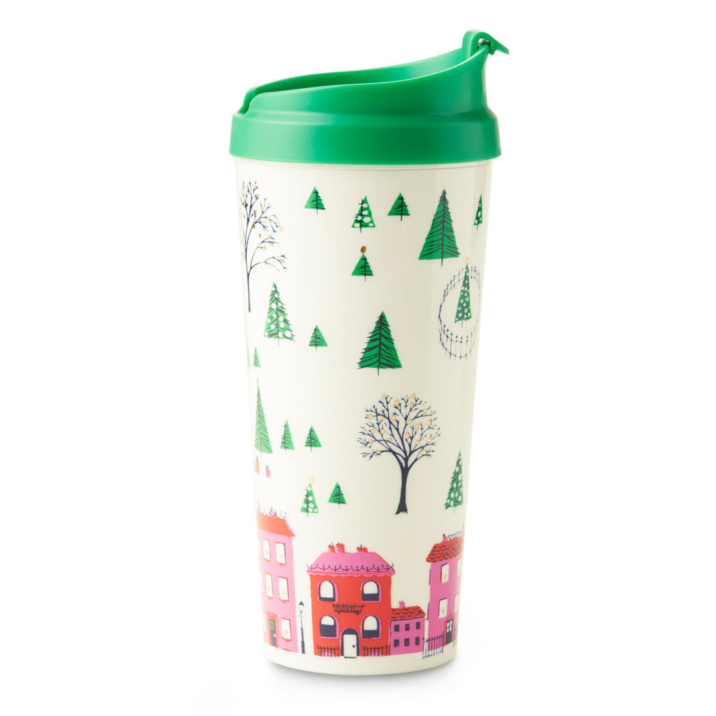 kate spade new york thermal mug- holiday village