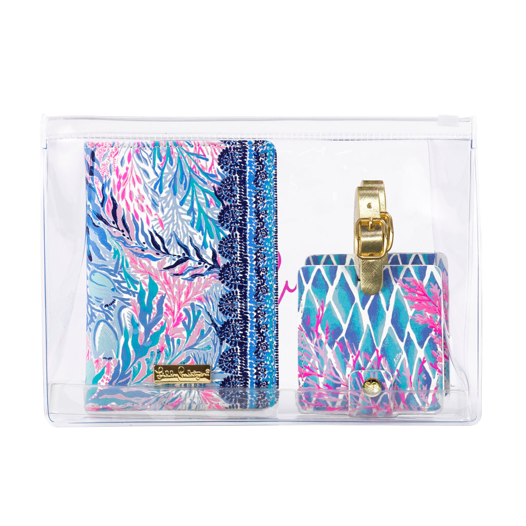 Lilly Pulitzer Travel Set, Kaleidoscope Coral