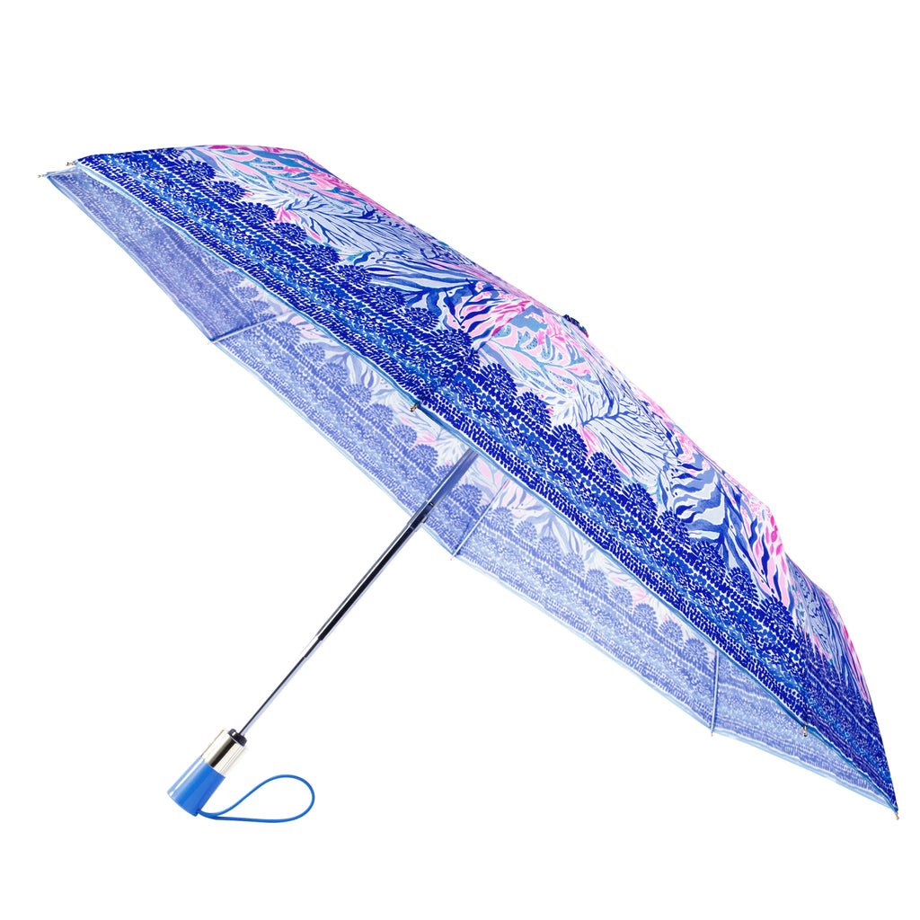 Lilly Pulitzer Travel Umbrella, Kaleidoscope Coral