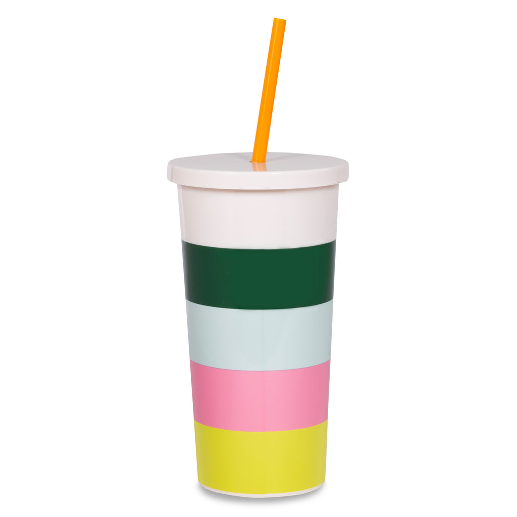 kate spade new york Insulated Tumbler with Straw, Stripe