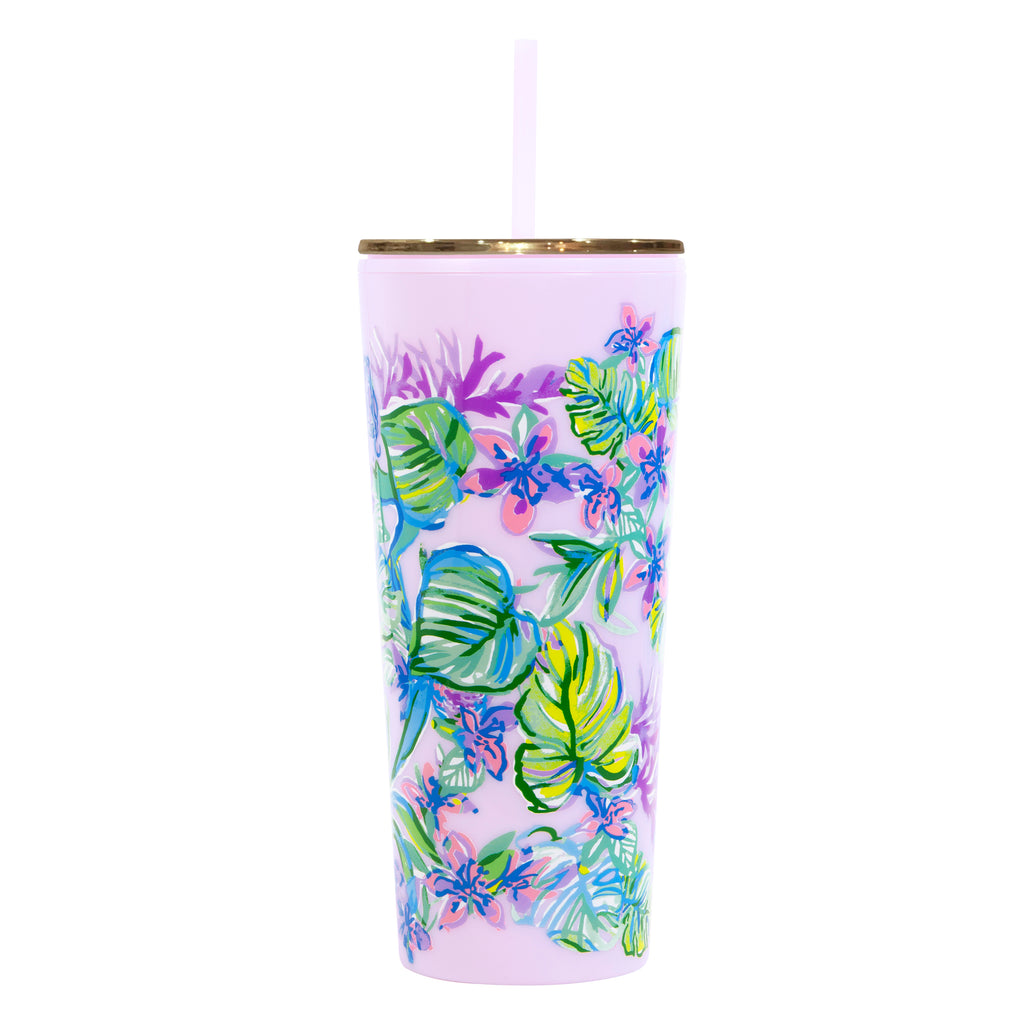 Lilly Pulitzer Tumbler with Straw, Mermaid in the Shade