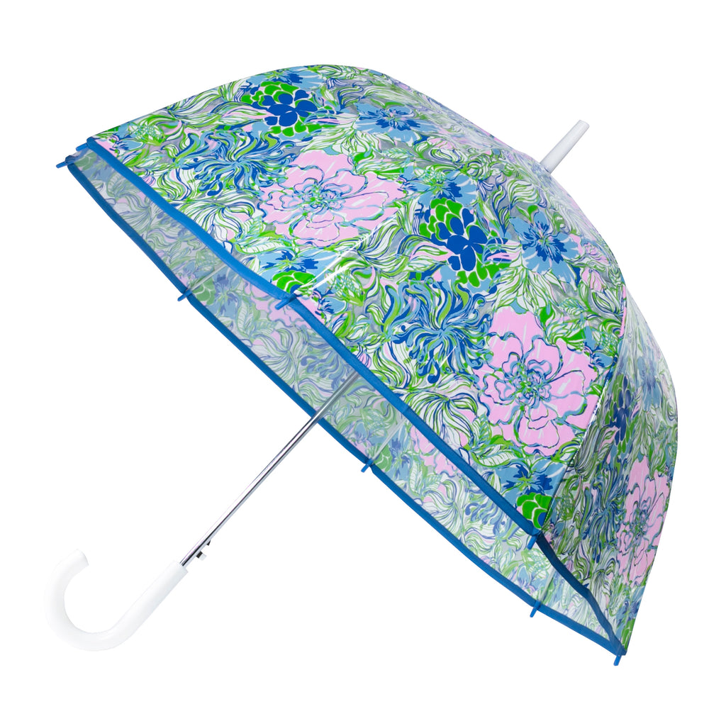 Lilly Pulitzer Clear Umbrella, Party thyme