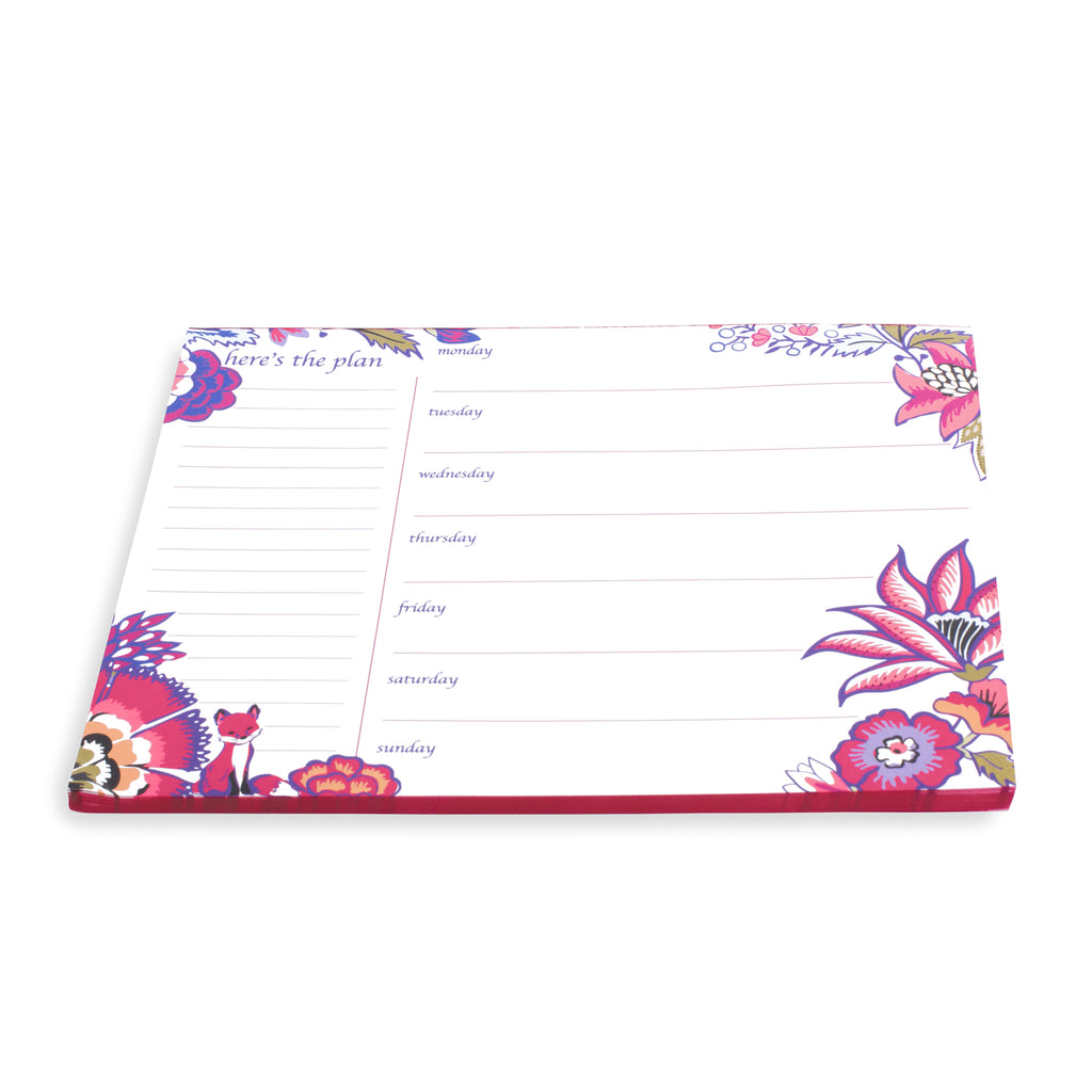 Vera Bradley Weekly To Do List Pad, Foxwood