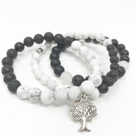 Tall Tree Stack Diffuser Bracelets
