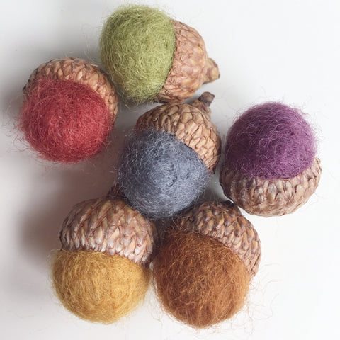 Felted Acorn Diffusers
