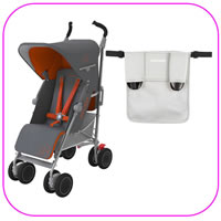 Techno XT Stroller with Silver Organizer