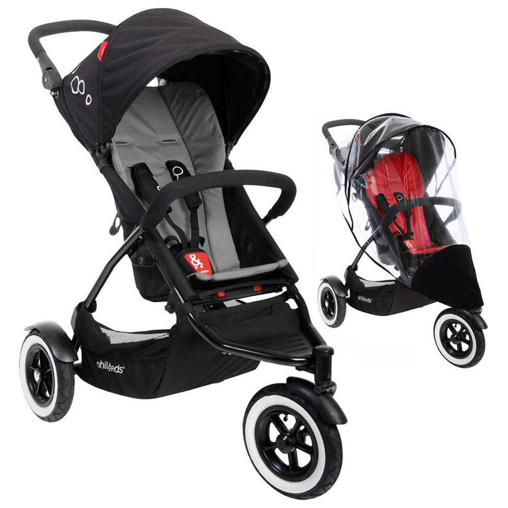 phil&teds DOT Stroller With Weather Cover - Flint