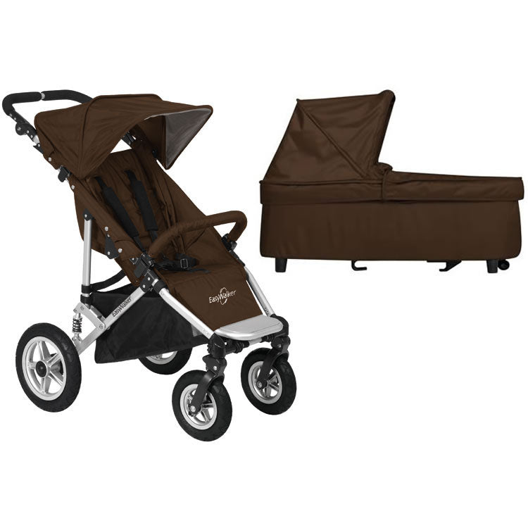 EasyWalker QTRO Stroller With CarryCot - Brown