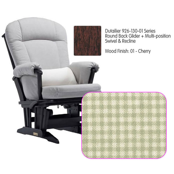 Dutailier 926 Series Glider Multi-posit, Swivel ,Recline in Cherry Cushion 3016