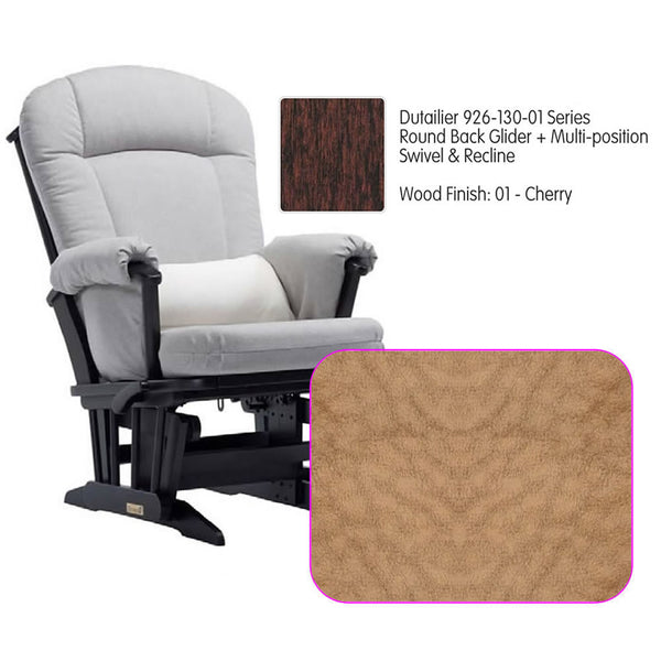 Dutailier 926 Series Glider Multi-posit, Swivel ,Recline in Cherry Cushion 4089
