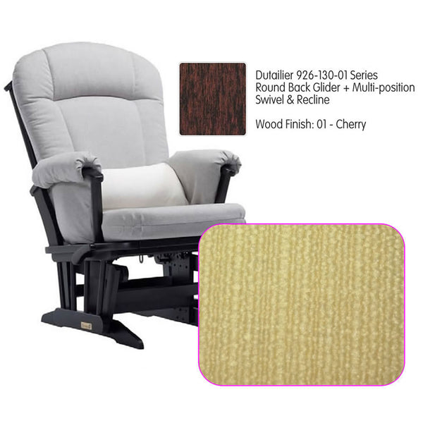 Dutailier 926 Series Glider Multi-posit, Swivel ,Recline in Cherry Cushion 5115