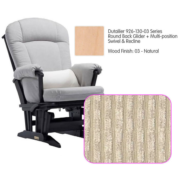 Dutailier 926 Series Glider Multi-posit, Swivel ,Recline in Natural Cushion 0239