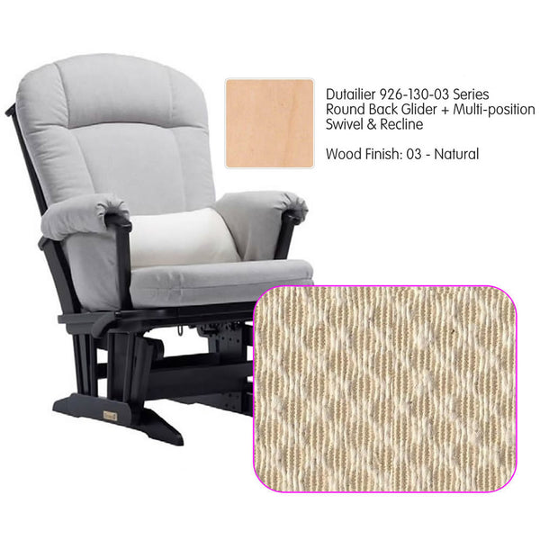 Dutailier 926 Series Glider Multi-posit, Swivel ,Recline in Natural Cushion 3000