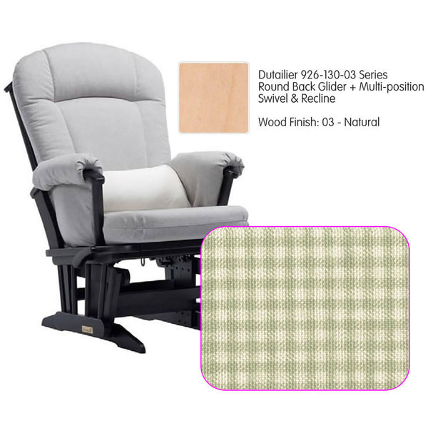 Dutailier 926 Series Glider Multi-posit, Swivel ,Recline in Natural Cushion 3016