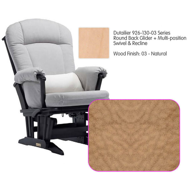 Dutailier 926 Series Glider Multi-posit, Swivel ,Recline in Natural Cushion 4089