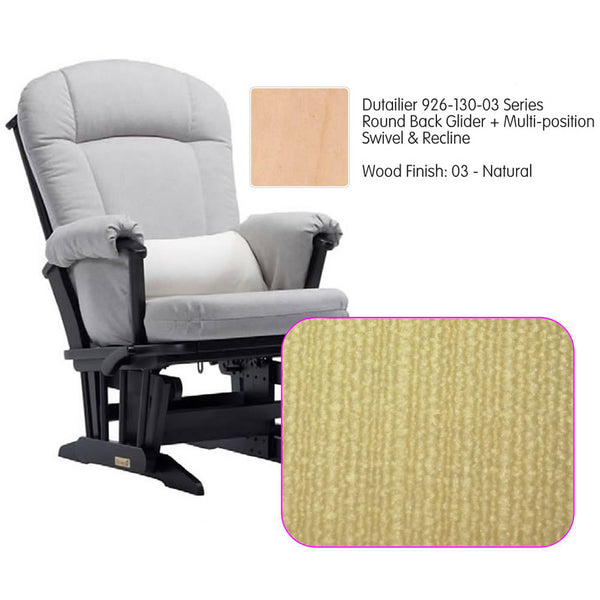 Dutailier 926 Series Glider Multi-posit, Swivel ,Recline in Natural Cushion 5115