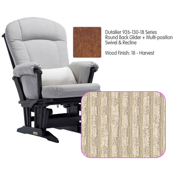 Dutailier 926 Series Glider Multi-posit, Swivel ,Recline in Harvest Cushion 0239