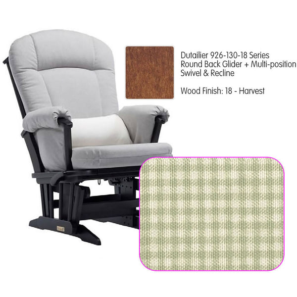 Dutailier 926 Series Glider Multi-posit, Swivel ,Recline in Harvest Cushion 3016