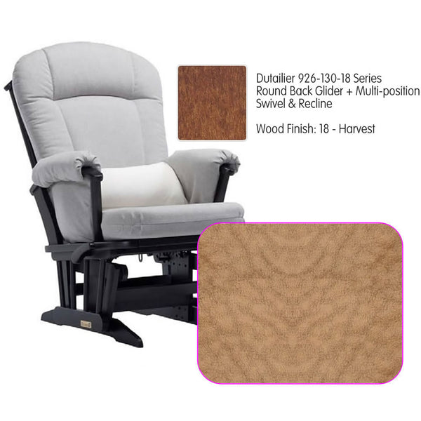 Dutailier 926 Series Glider Multi-posit, Swivel ,Recline in Harvest Cushion 4089