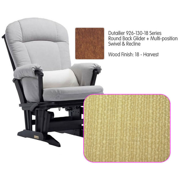 Dutailier 926 Series Glider Multi-posit, Swivel ,Recline in Harvest Cushion 5115