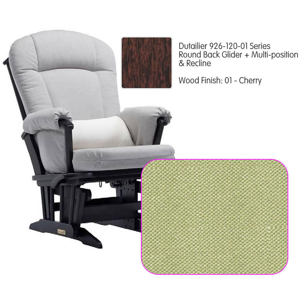 Dutailier 926 Series Multiposition Reclining Glider in Cherry - Cushion 0496