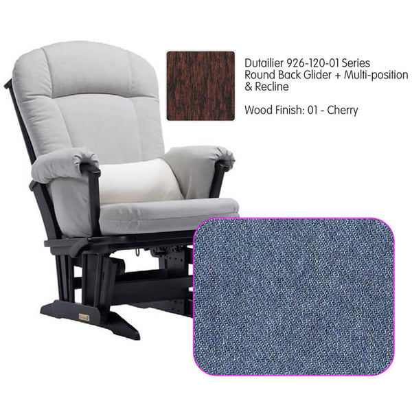 Dutailier 926 Series Multiposition Reclining Glider in Cherry - Cushion 0512