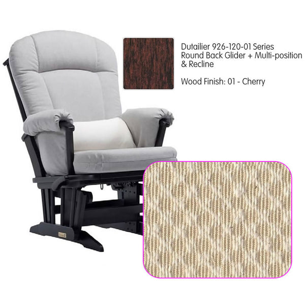 Dutailier 926 Series Multiposition Reclining Glider in Cherry - Cushion 3000