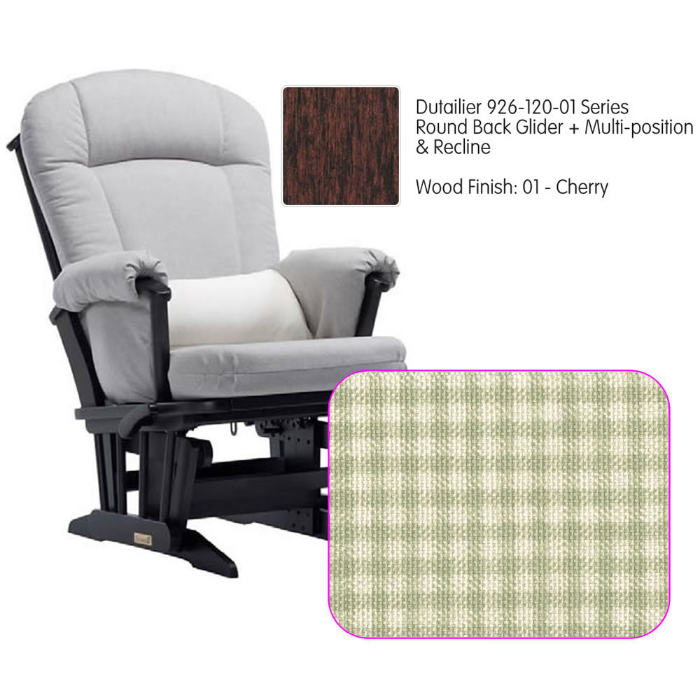 Dutailier 926 Series Multiposition Reclining Glider in Cherry - Cushion 3016