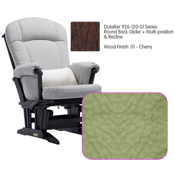 Dutailier 926 Series Multiposition Reclining Glider in Cherry - Cushion 4088