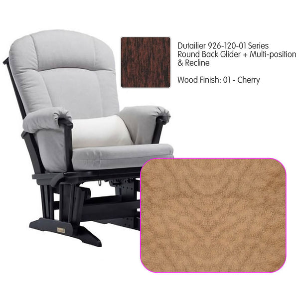 Dutailier 926 Series Multiposition Reclining Glider in Cherry - Cushion 4089