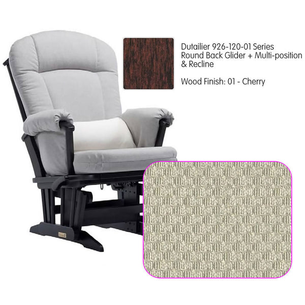 Dutailier 926 Series Multiposition Reclining Glider in Cherry - Cushion 5020