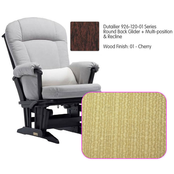 Dutailier 926 Series Multiposition Reclining Glider in Cherry - Cushion 5115