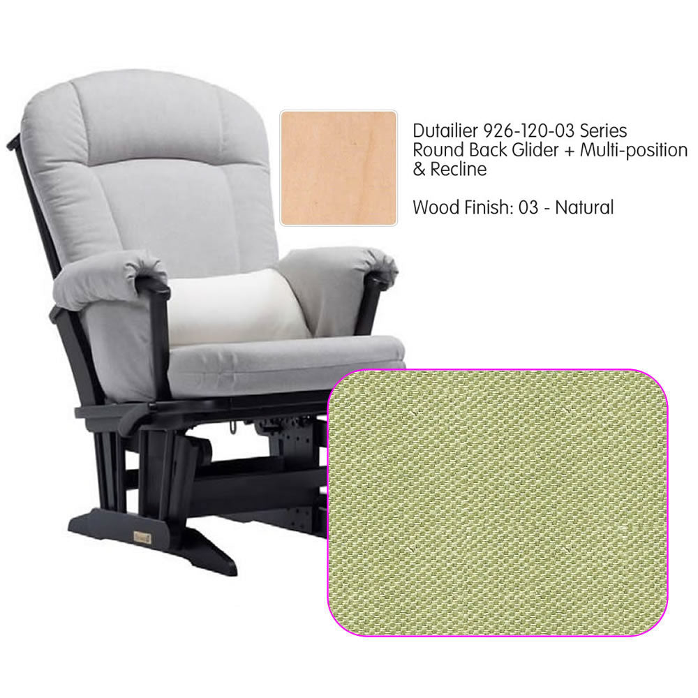 Dutailier 926 Series Multiposition Reclining Glider in Natural - Cushion 0496