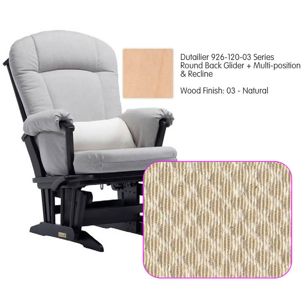 Dutailier 926 Series Multiposition Reclining Glider in Natural - Cushion 3000