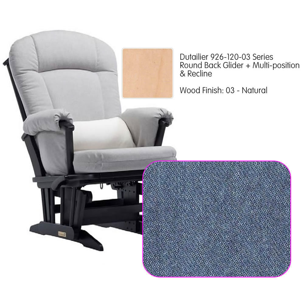 Dutailier 926 Series Multiposition Reclining Glider in Natural - Cushion 0512