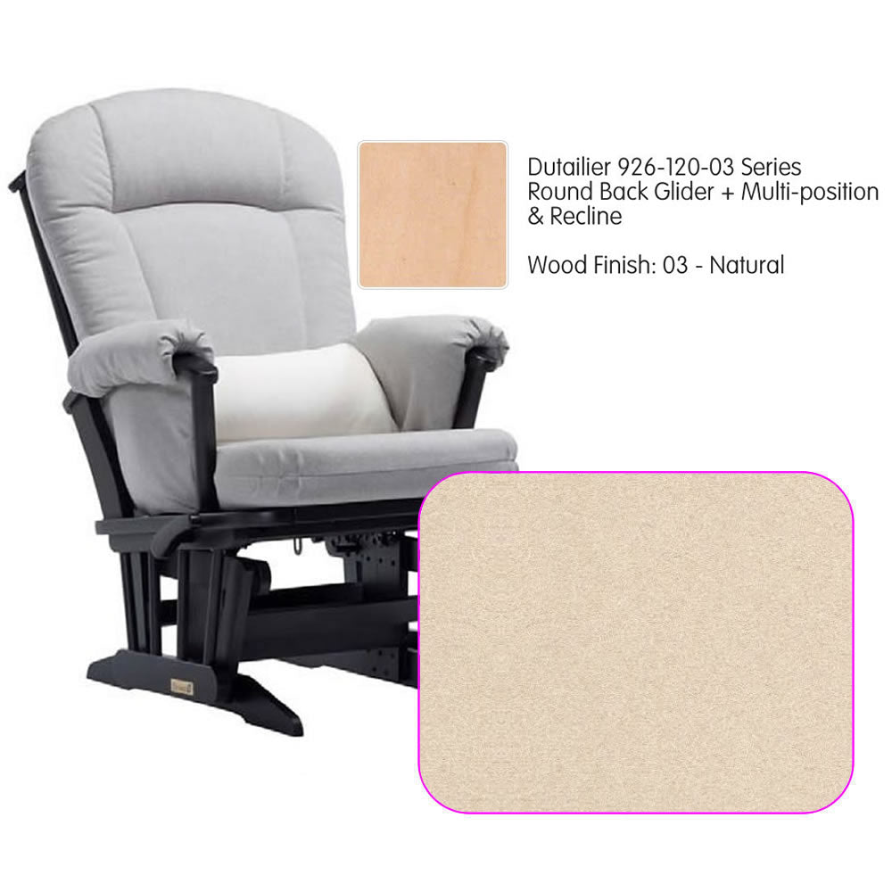 Dutailier 926 Series Multiposition Reclining Glider in Natural - Cushion 4039