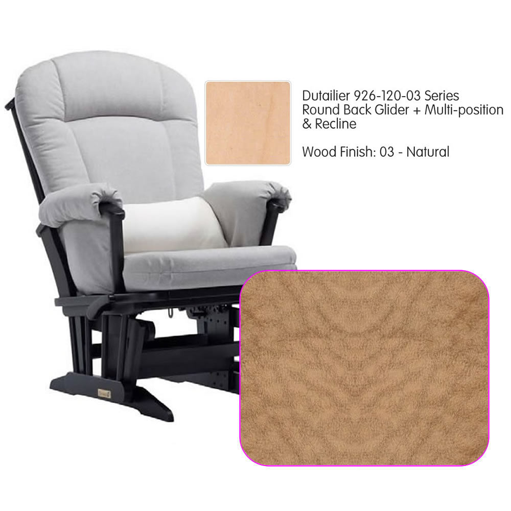 Dutailier 926 Series Multiposition Reclining Glider in Natural - Cushion 4089
