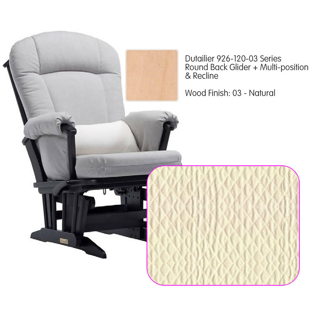 Dutailier 926 Series Multiposition Reclining Glider in Natural - Cushion 5023