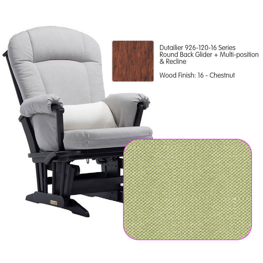 Dutailier 926 Series Multiposition Reclining Glider in Chestnut - Cushion 0496