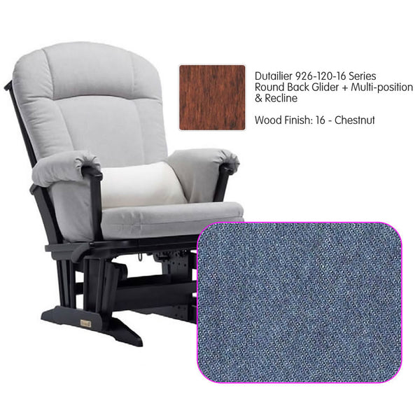 Dutailier 926 Series Multiposition Reclining Glider in Chestnut - Cushion 0512