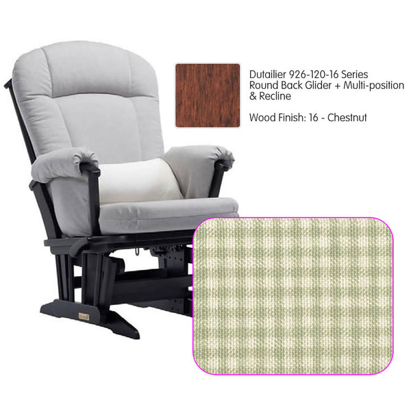 Dutailier 926 Series Multiposition Reclining Glider in Chestnut - Cushion 3016