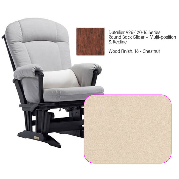 Dutailier 926 Series Multiposition Reclining Glider in Chestnut - Cushion 4039