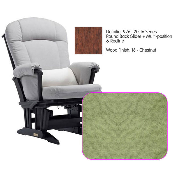 Dutailier 926 Series Multiposition Reclining Glider in Chestnut - Cushion 4088