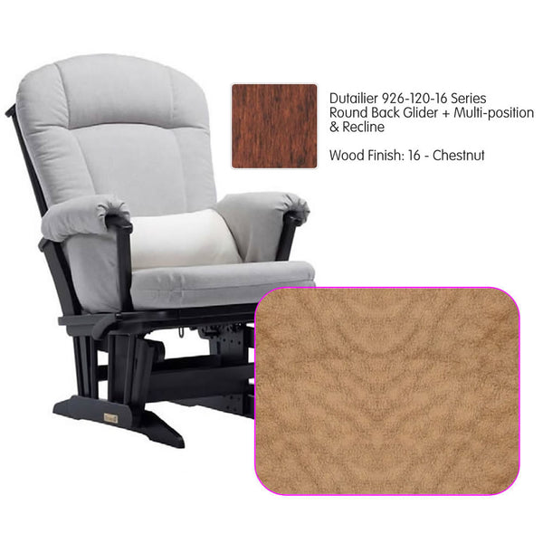 Dutailier 926 Series Multiposition Reclining Glider in Chestnut - Cushion 4089