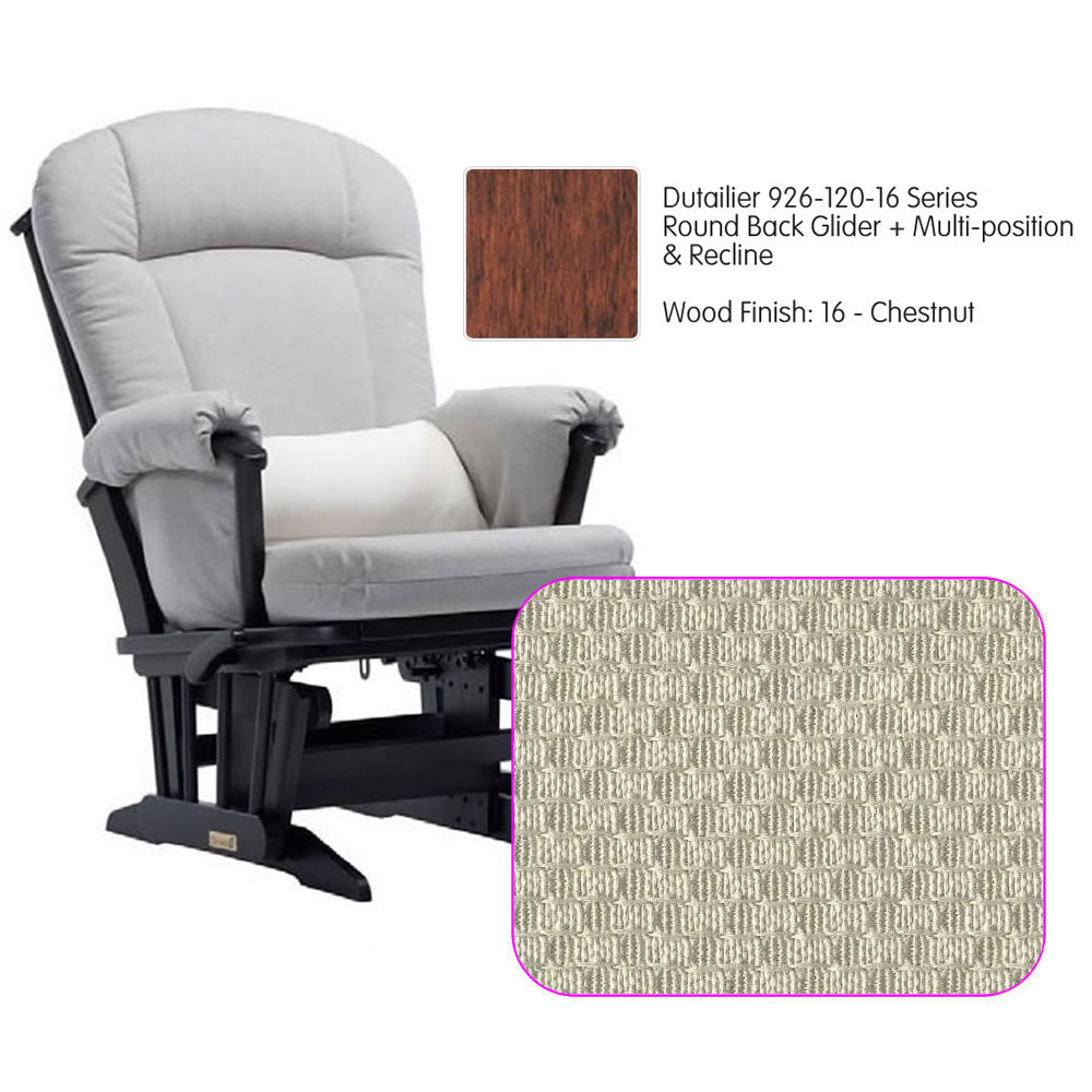 Dutailier 926 Series Multiposition Reclining Glider in Chestnut - Cushion 5020