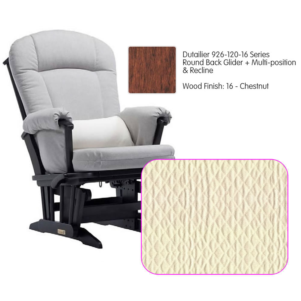 Dutailier 926 Series Multiposition Reclining Glider in Chestnut - Cushion 5023