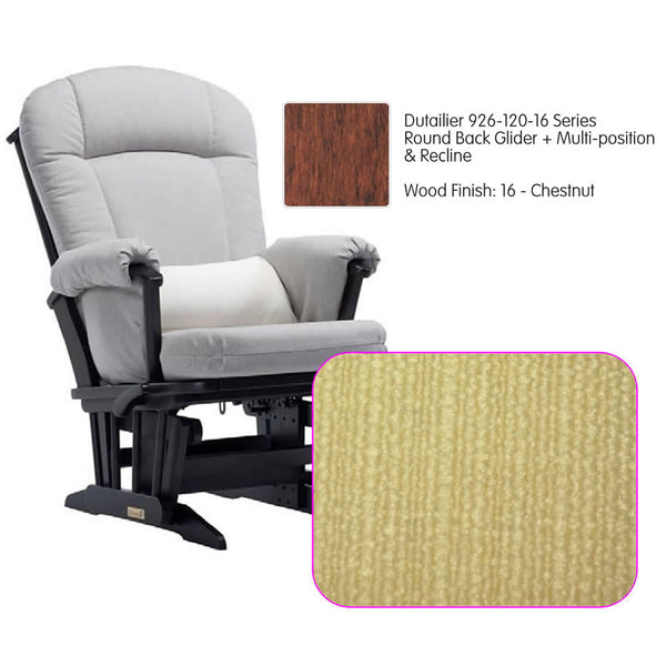 Dutailier 926 Series Multiposition Reclining Glider in Chestnut - Cushion 5115