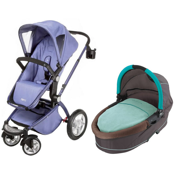 Maxi Cosi Foray LX Stroller Wtih Dreami Bassinet - Bleached Denim/Raccoon